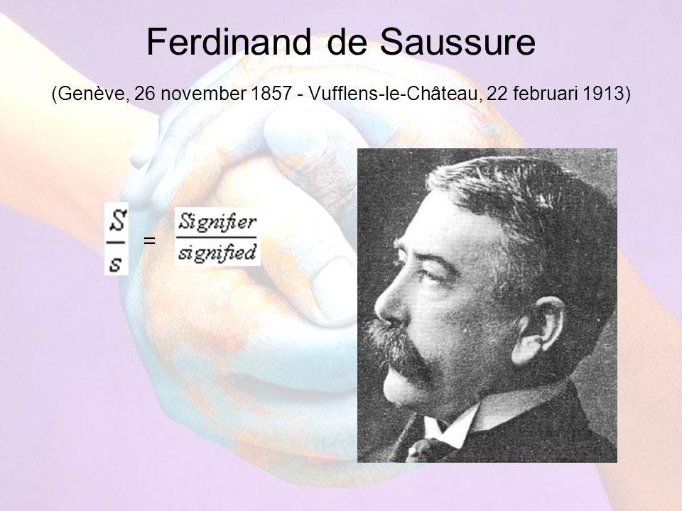 Ferdinand de Saussure (Genève, 26 november 1857 - Vufflens-le-Château, 22 februari 1913) =