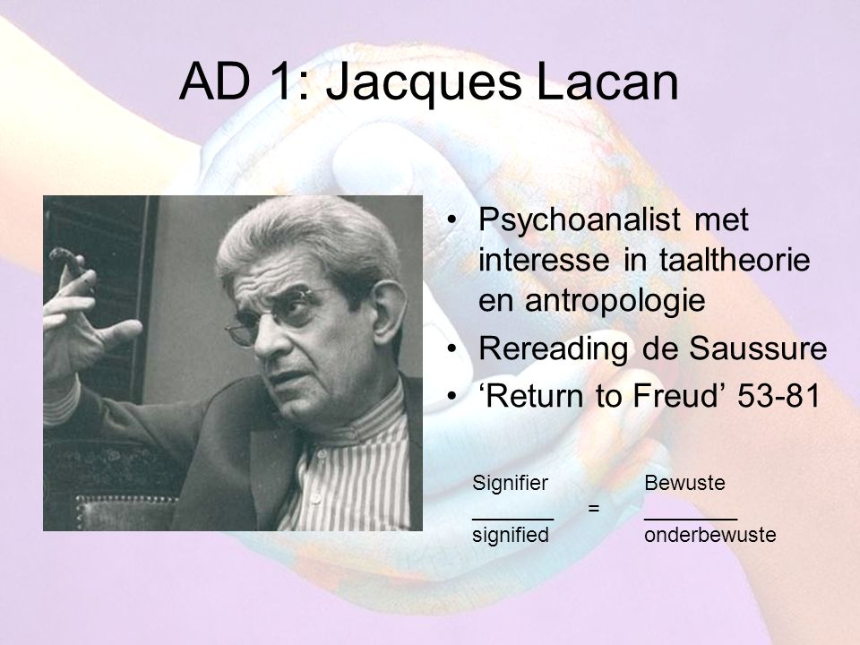 Hoe herleest Lacan Freud.