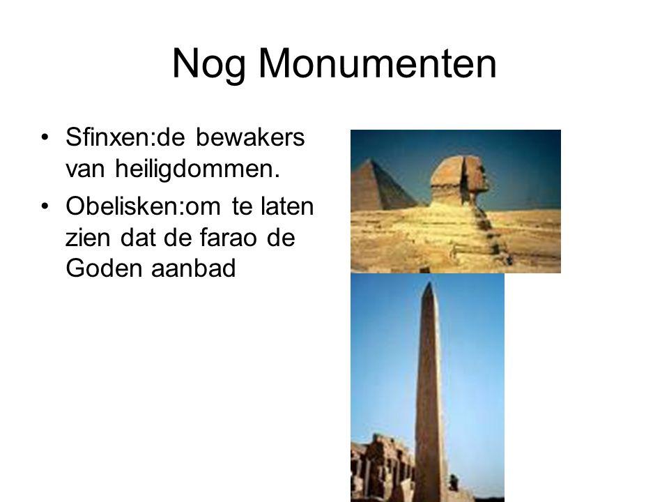 Nog Monumenten Sfinxen:de bewakers van heiligdommen.