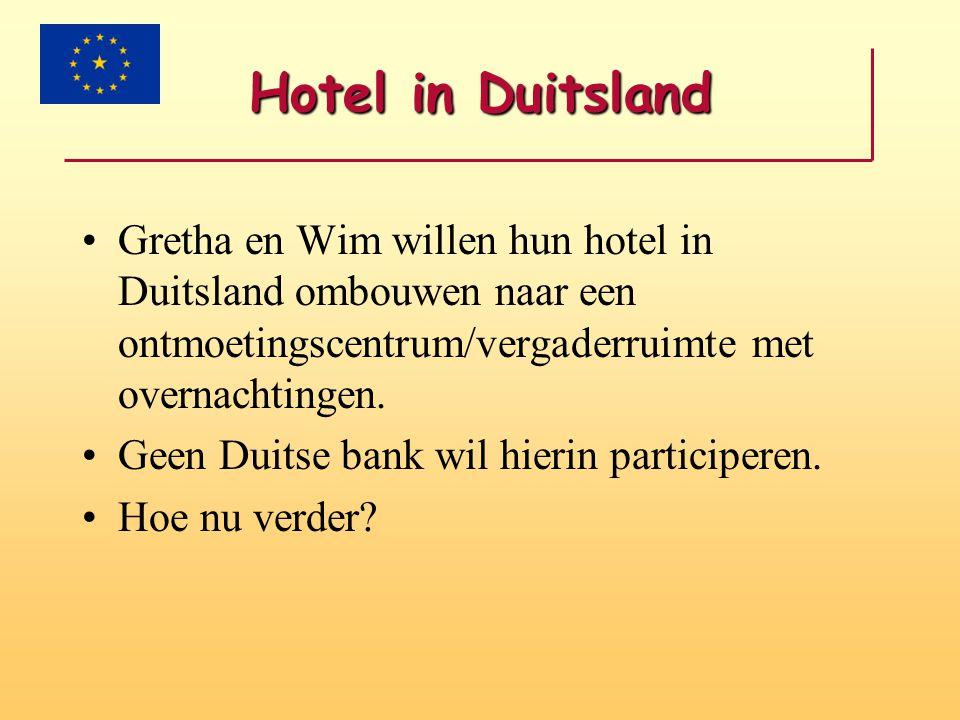 Hotel in Duitsland Gretha en Wim willen hun hotel in Duitsland ombouwen naar een ontmoetingscentrum/vergaderruimte met overnachtingen.