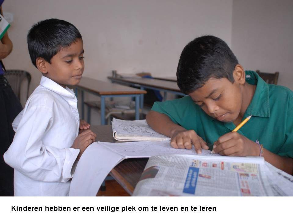 Kinderen hebben er een veilige plek om te leven en te leren