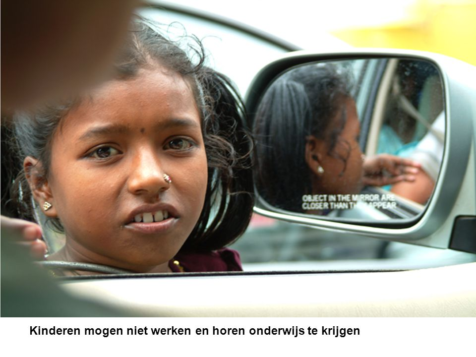 Kinderen mogen niet werken en horen onderwijs te krijgen