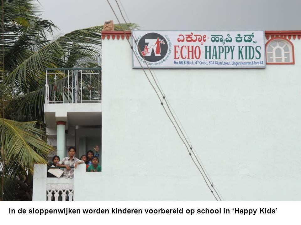 In de sloppenwijken worden kinderen voorbereid op school in 'Happy Kids'