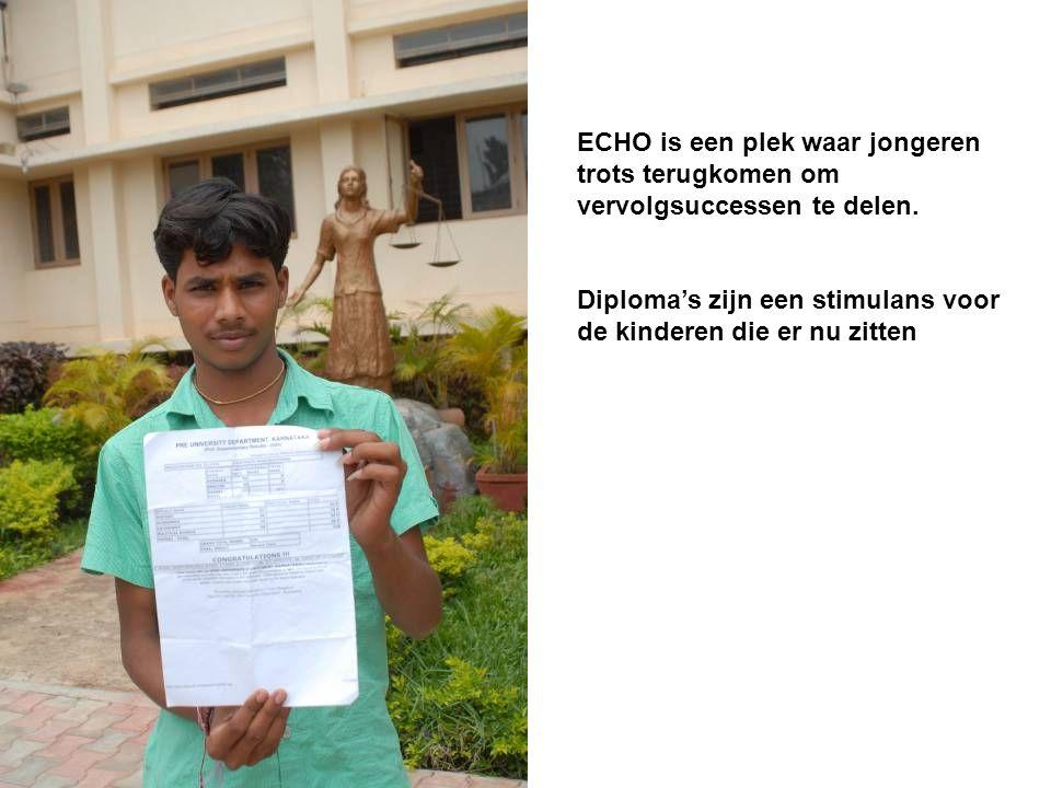 ECHO is een plek waar jongeren trots terugkomen om vervolgsuccessen te delen.