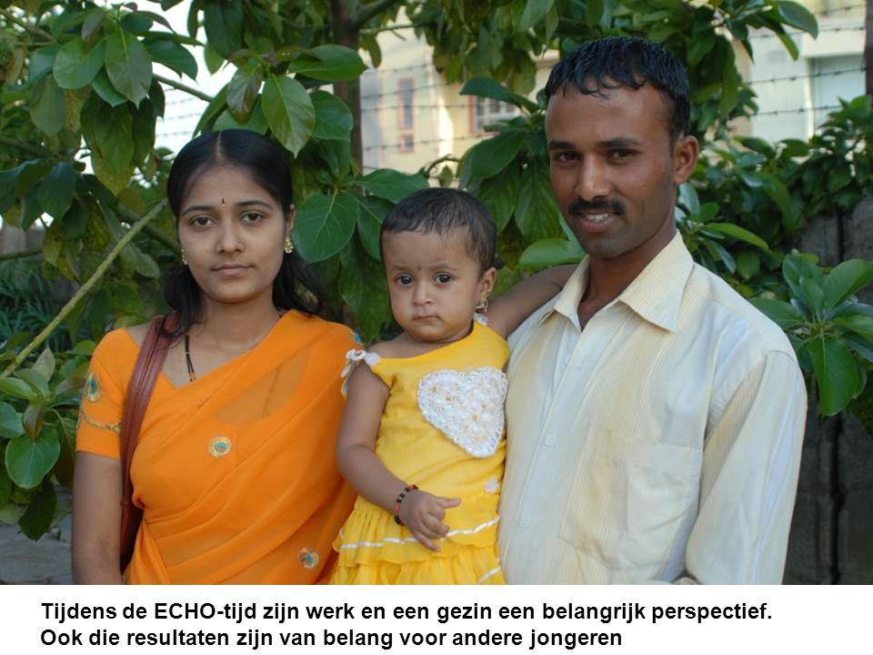 Tijdens de ECHO-tijd zijn werk en een gezin een belangrijk perspectief.