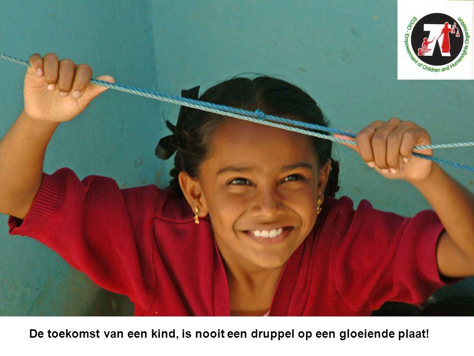 De toekomst van een kind, is nooit een druppel op een gloeiende plaat!
