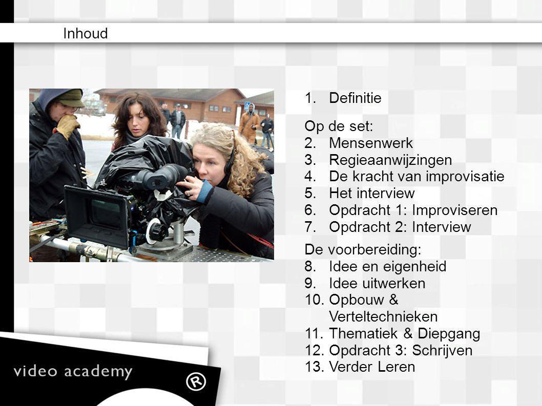 1.Definitie – matte box – camera filters (ND) – lens (zoom) – iris – sluitertijden (ook i.c.m.