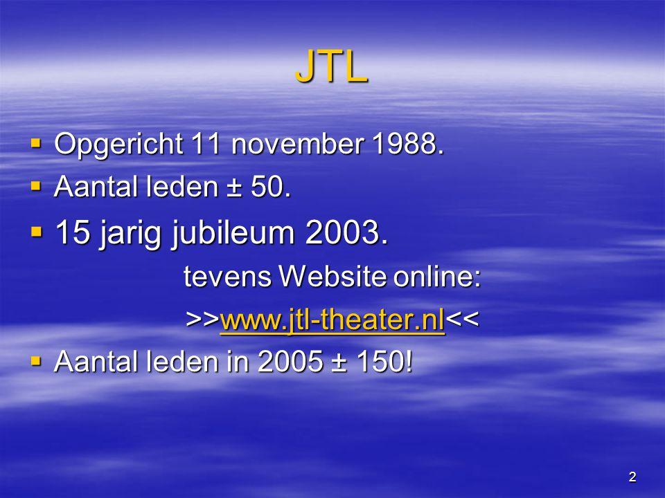 2 JTL  Opgericht 11 november 1988.  Aantal leden ± 50.