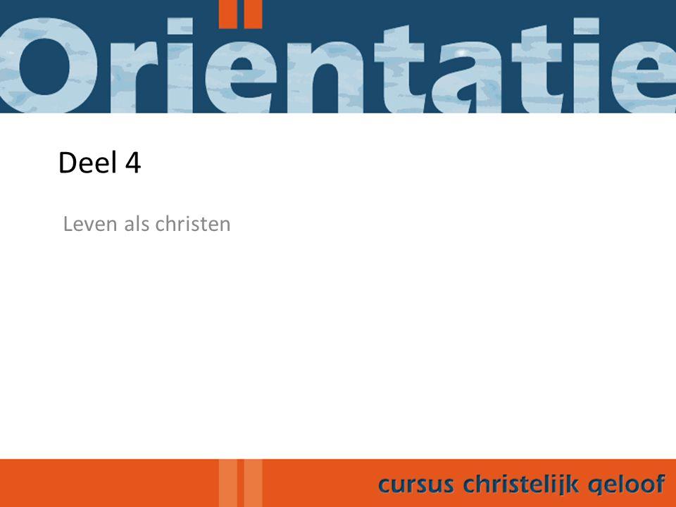 4.1 Inleiding Wat betekent christen-zijn concreet in de dagelijkse praktijk?