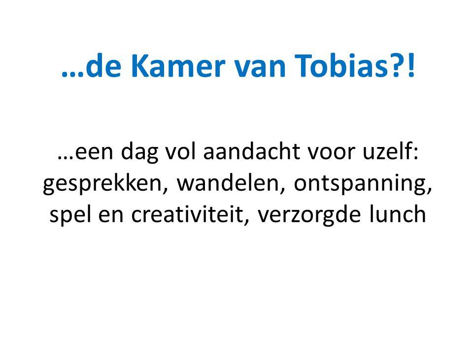 …een dag vol aandacht voor uzelf: gesprekken, wandelen, ontspanning, spel en creativiteit, verzorgde lunch …de Kamer van Tobias?!