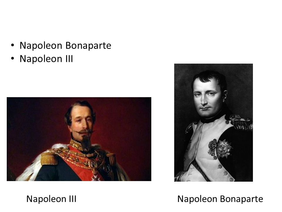 Napoleon Bonaparte Napoleon III Napoleon Bonaparte