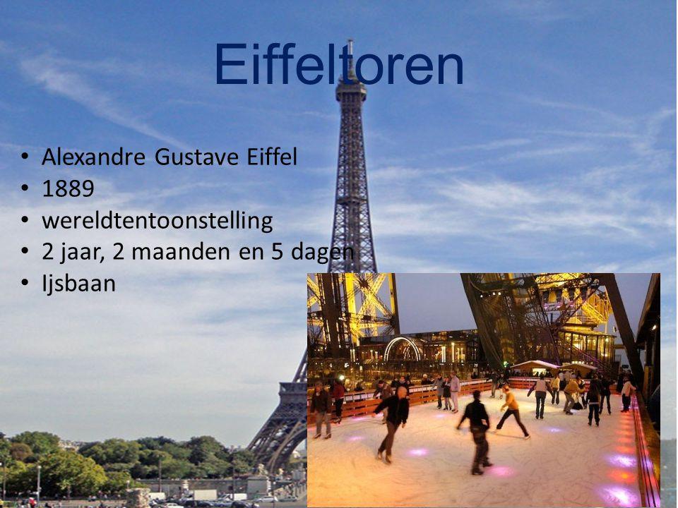 Eiffeltoren Alexandre Gustave Eiffel 1889 wereldtentoonstelling 2 jaar, 2 maanden en 5 dagen Ijsbaan
