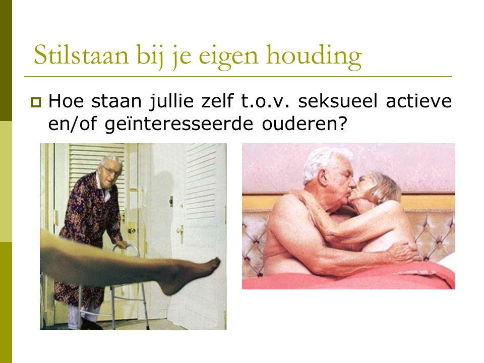 Seksualiteit: een bijdrage tot kwaliteit van leven…  Belang kwaliteitsvol ouder worden  Rusthuisopname: beperking levenstevredenheid en kwaliteit  Rol zorgverlener: ondersteunen.