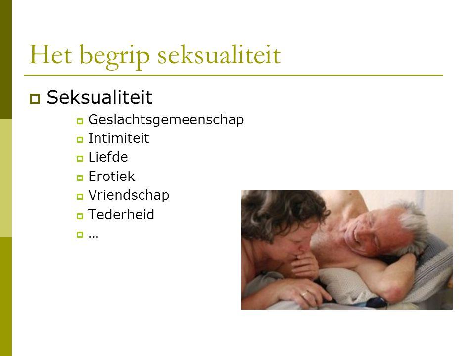 Seksuele activiteit en interesse bij ouderen in WZC (1)  Frequentie daalt  Interesse blijft aanwezig.