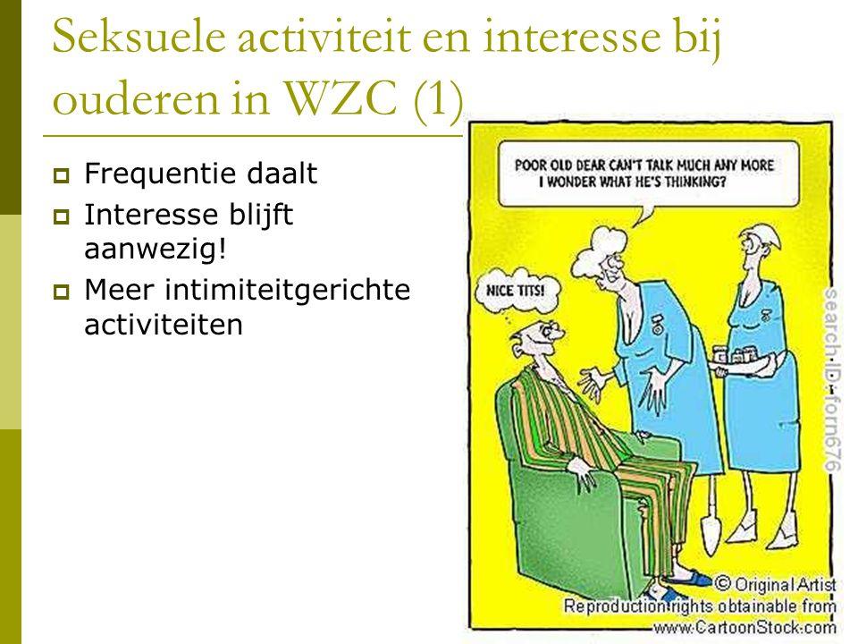 Seksuele activiteit en interesse bij ouderen in WZC (2)  Belangrijk.