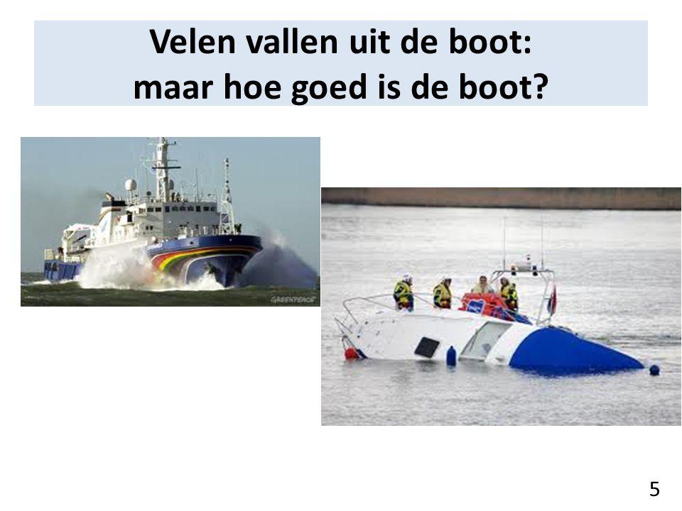 Velen vallen uit de boot: maar hoe goed is de boot? 5