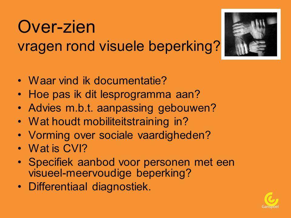 Over-zien vragen rond visuele beperking. Waar vind ik documentatie.