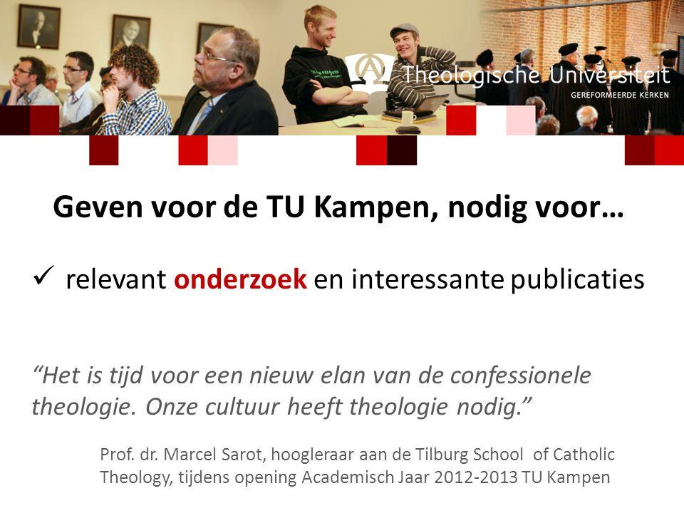 relevant onderzoek en interessante publicaties Het is tijd voor een nieuw elan van de confessionele theologie.