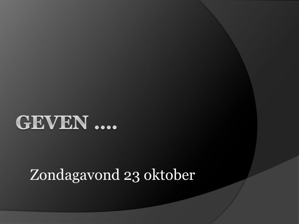 Zondagavond 23 oktober