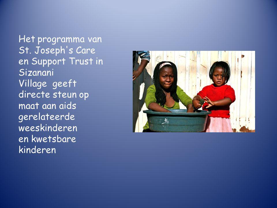 Jong geleerd, oud gedaan De kinderen worden betrokken bij het verbouwen van groente en ander voedsel voor het project