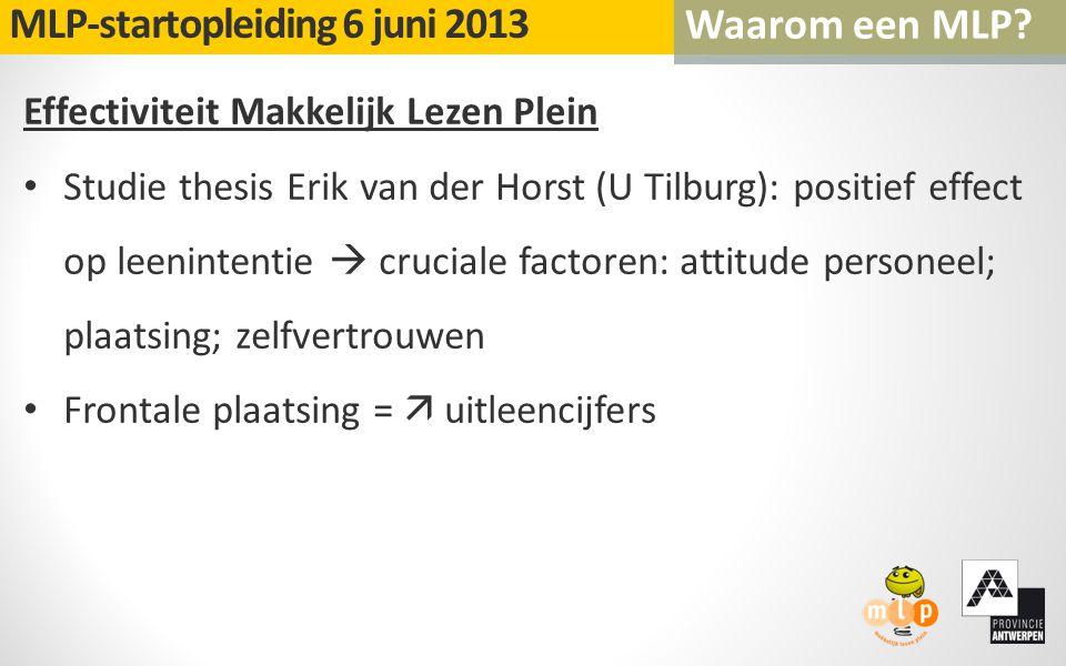 Effectiviteit Makkelijk Lezen Plein Studie thesis Erik van der Horst (U Tilburg): positief effect op leenintentie  cruciale factoren: attitude person