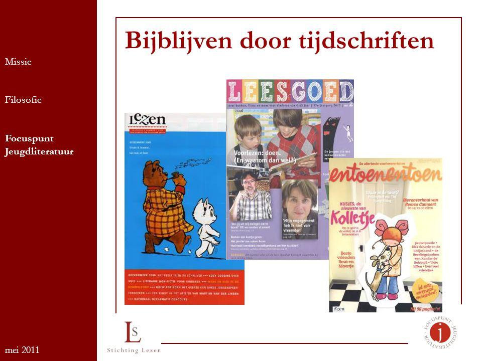 Bijblijven door tijdschriften Missie Filosofie Focuspunt Jeugdliteratuur mei 2011