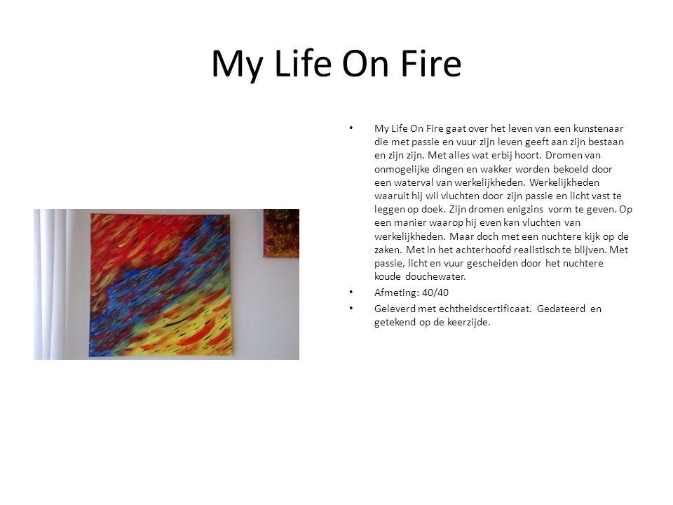 My Life On Fire My Life On Fire gaat over het leven van een kunstenaar die met passie en vuur zijn leven geeft aan zijn bestaan en zijn zijn.
