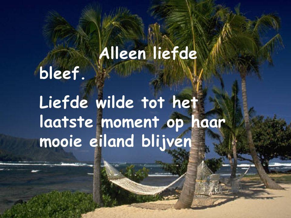 Toen het eiland bijna ging zinken besloot Liefde om hulp te vragen