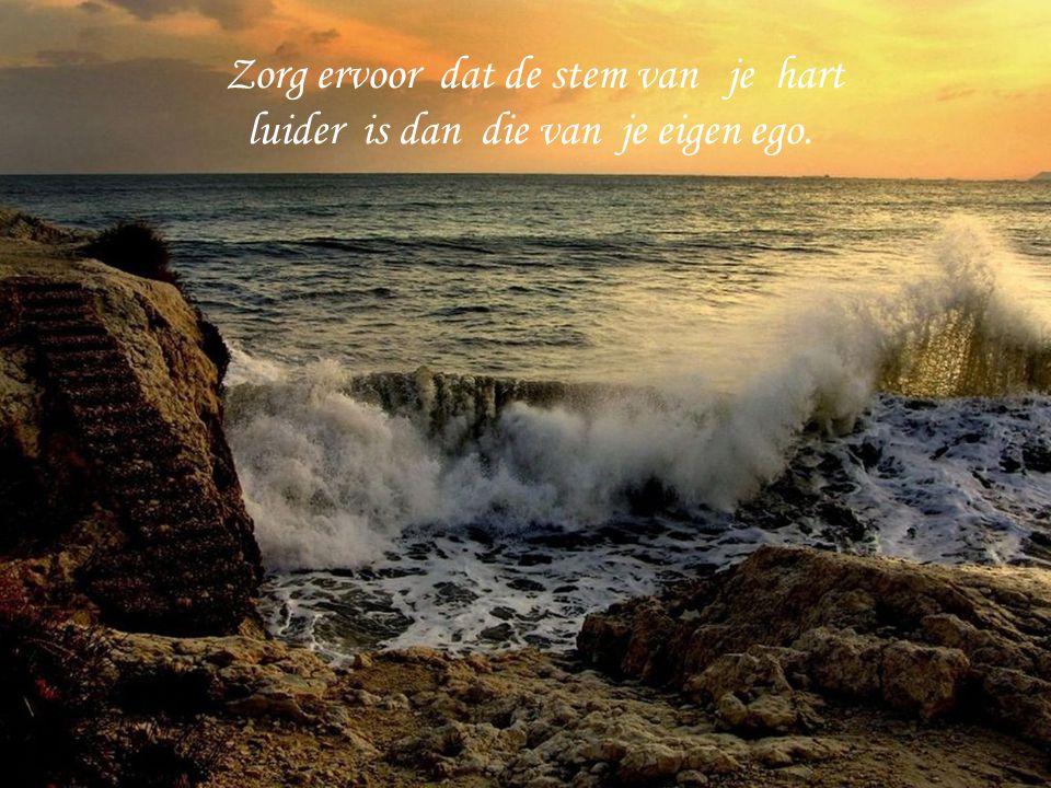 Zorg ervoor dat de stem van je hart luider is dan die van je eigen ego.