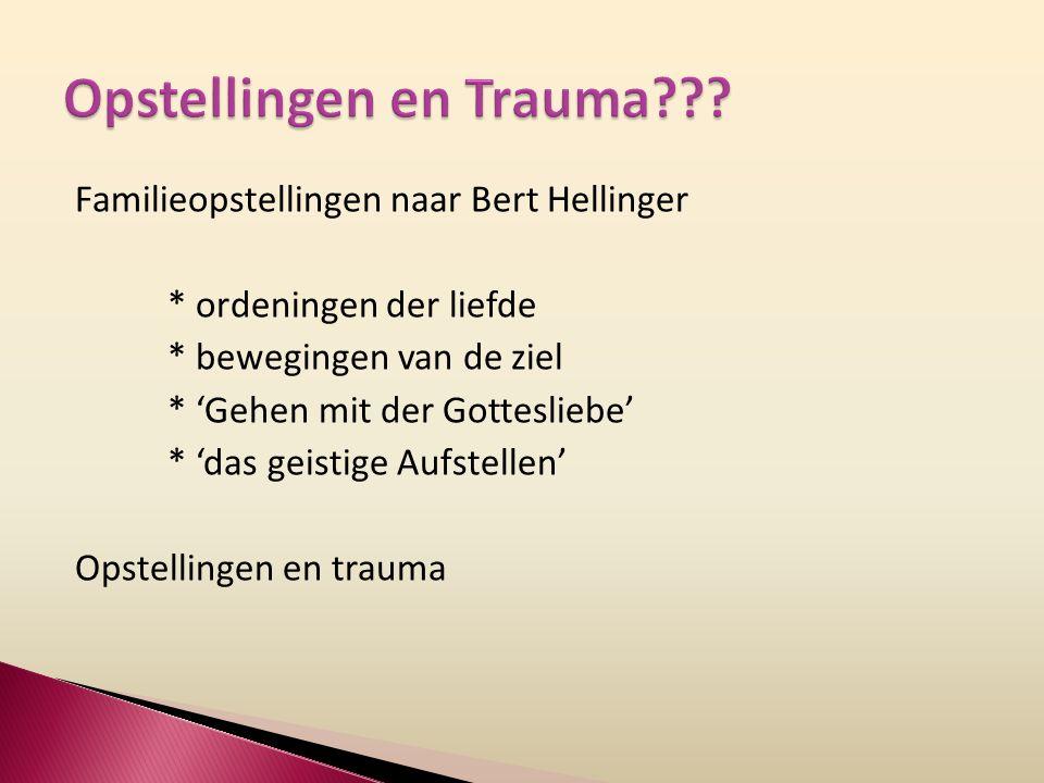 Familieopstellingen naar Bert Hellinger * ordeningen der liefde * bewegingen van de ziel * 'Gehen mit der Gottesliebe' * 'das geistige Aufstellen' Opstellingen en trauma