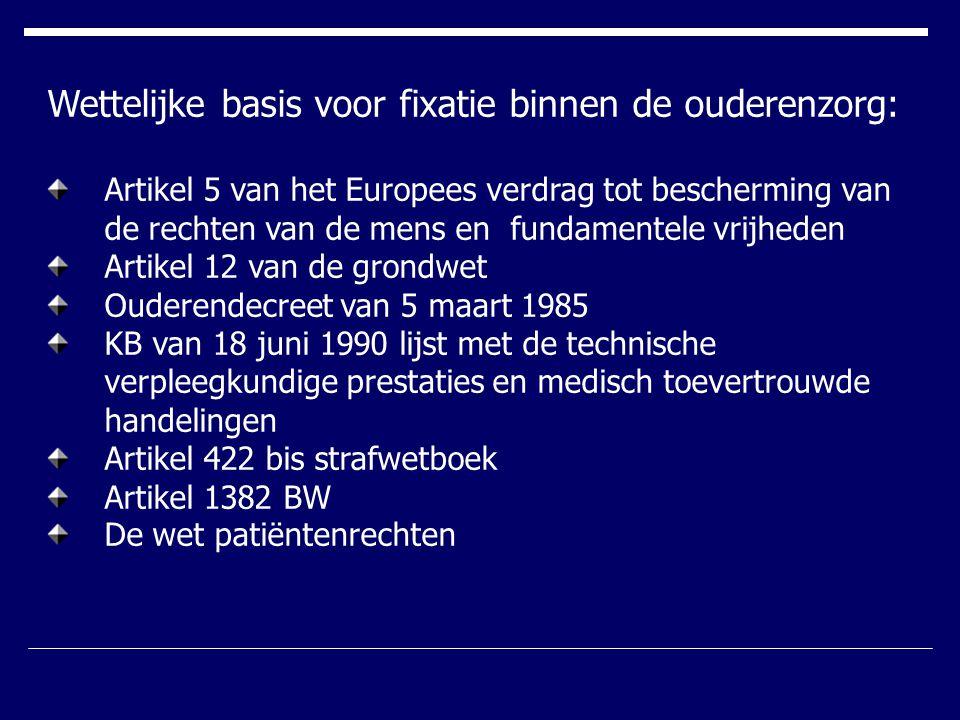 Wettelijke basis voor fixatie binnen de ouderenzorg: Artikel 5 van het Europees verdrag tot bescherming van de rechten van de mens en fundamentele vri