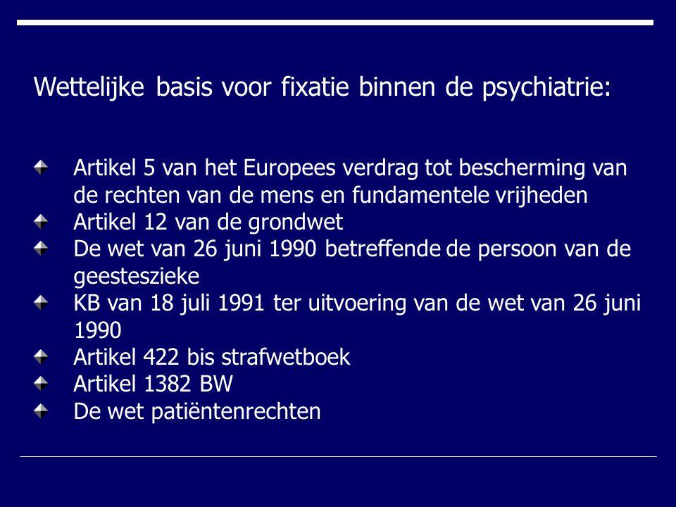 Wettelijke basis voor fixatie binnen de psychiatrie: Artikel 5 van het Europees verdrag tot bescherming van de rechten van de mens en fundamentele vri