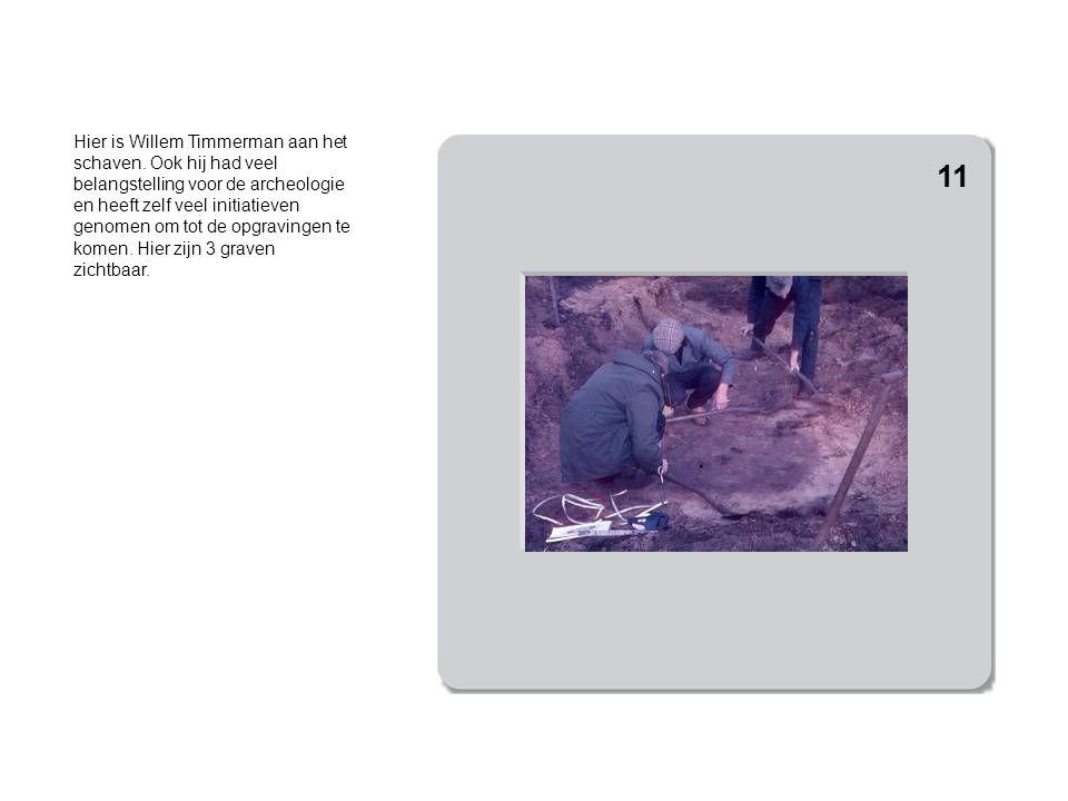 Hier is het graf voor de helft afgegraven.