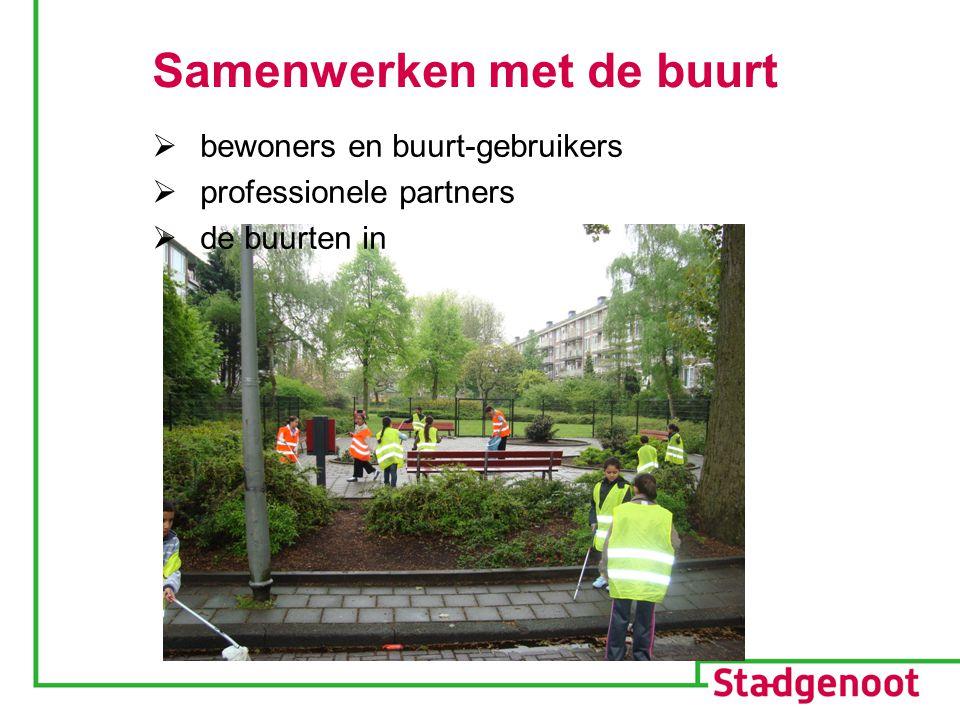 Samenwerken met de buurt  bewoners en buurt-gebruikers  professionele partners  de buurten in