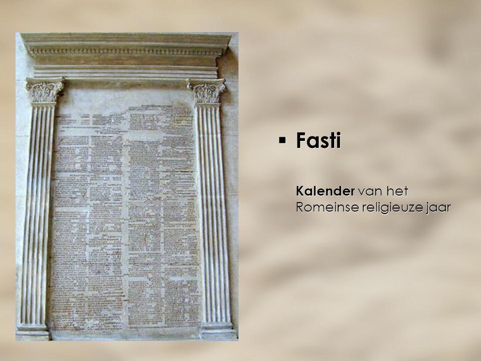  Fasti Kalender van het Romeinse religieuze jaar  Fasti Kalender van het Romeinse religieuze jaar