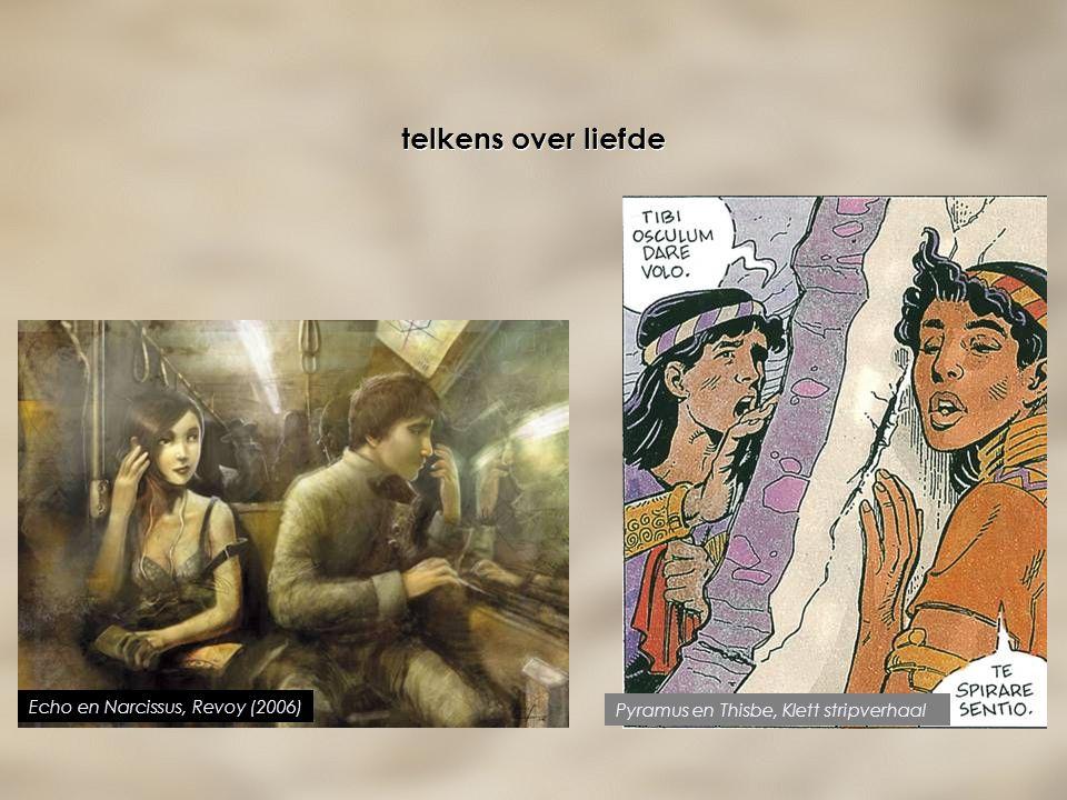 telkens over liefde Echo en Narcissus, Revoy (2006) Pyramus en Thisbe, Klett stripverhaal