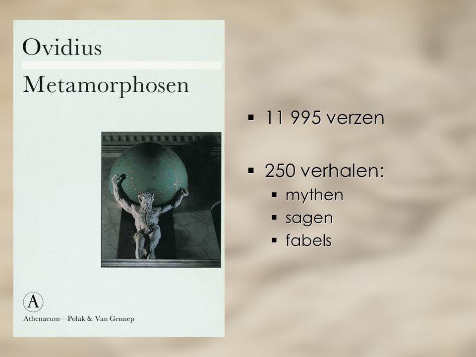  11 995 verzen  250 verhalen:  mythen  sagen  fabels  11 995 verzen  250 verhalen:  mythen  sagen  fabels