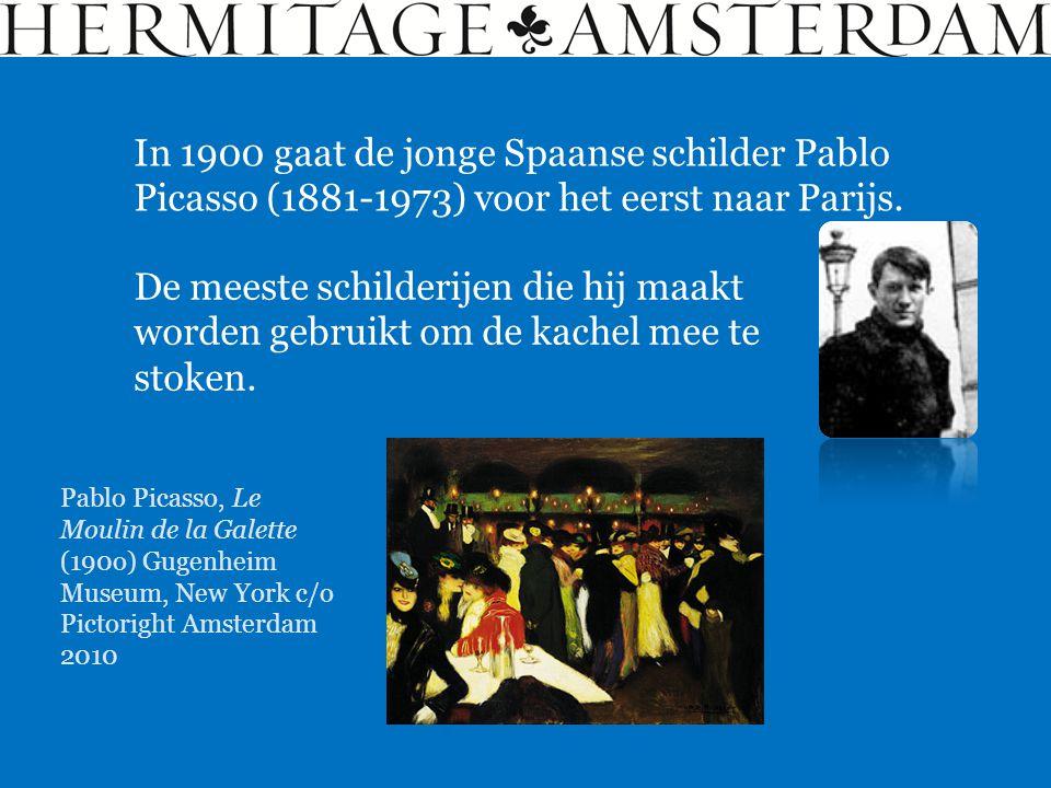 In 1900 gaat de jonge Spaanse schilder Pablo Picasso (1881-1973) voor het eerst naar Parijs. De meeste schilderijen die hij maakt worden gebruikt om d