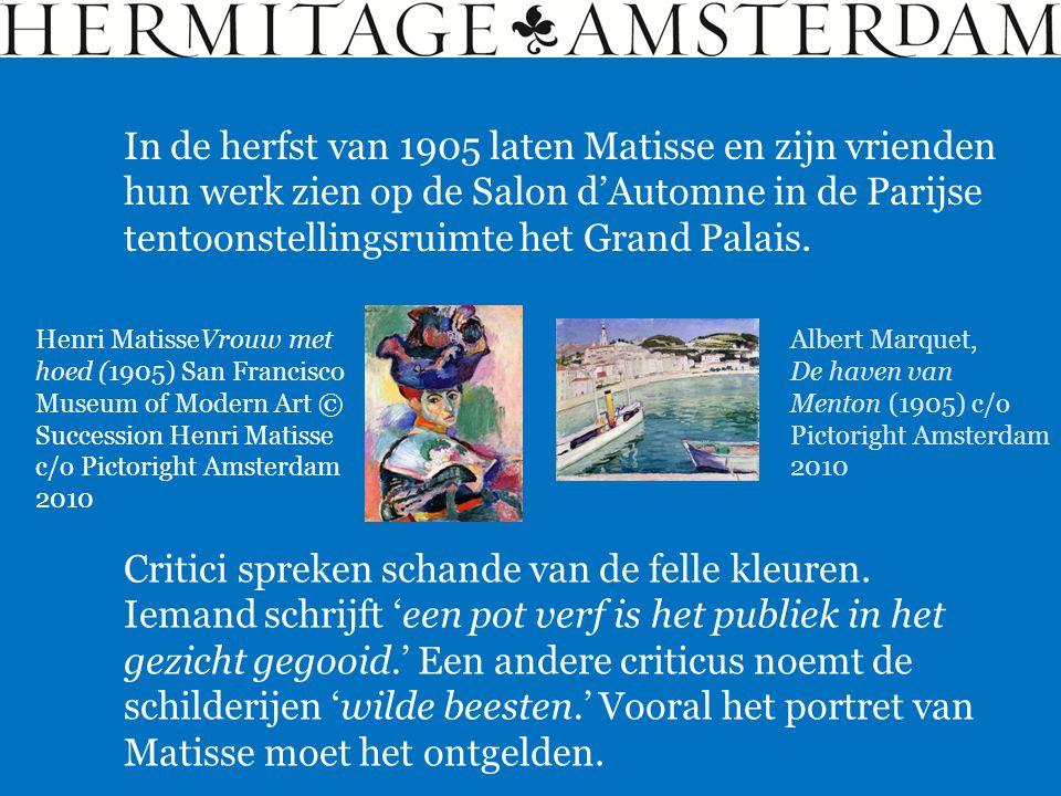 In de herfst van 1905 laten Matisse en zijn vrienden hun werk zien op de Salon d'Automne in de Parijse tentoonstellingsruimte het Grand Palais. Albert