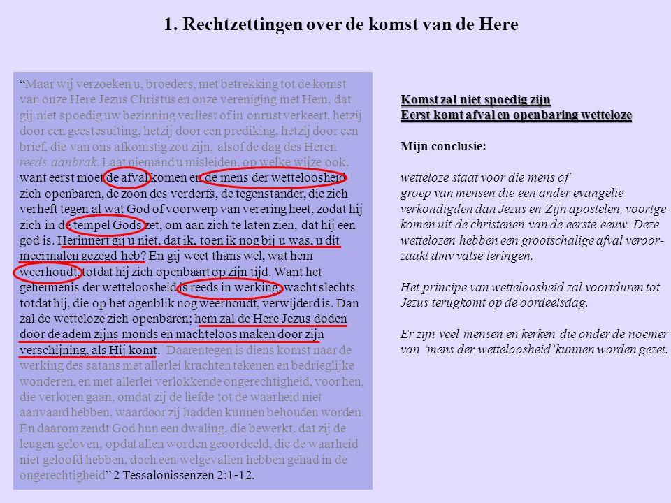 De brieven van Paulus aan de Tessalonissenzen 2 Tessalonissenzen 2 en 3 door Peter Vandebuerie We hebben het in deze les gehad over: 1.
