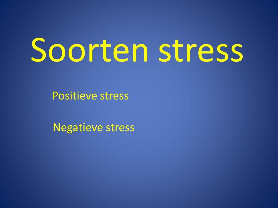 Soorten stress Positieve stress Negatieve stress