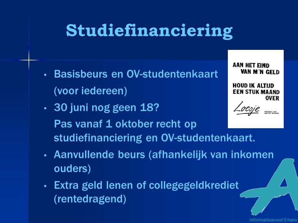 Studiefinanciering Basisbeurs en OV-studentenkaart (voor iedereen) 30 juni nog geen 18.