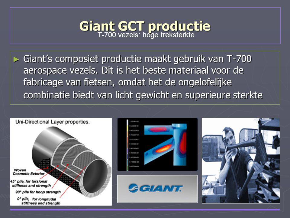 Giant GCT productie ► Giant's composiet productie maakt gebruik van T-700 aerospace vezels. Dit is het beste materiaal voor de fabricage van fietsen,