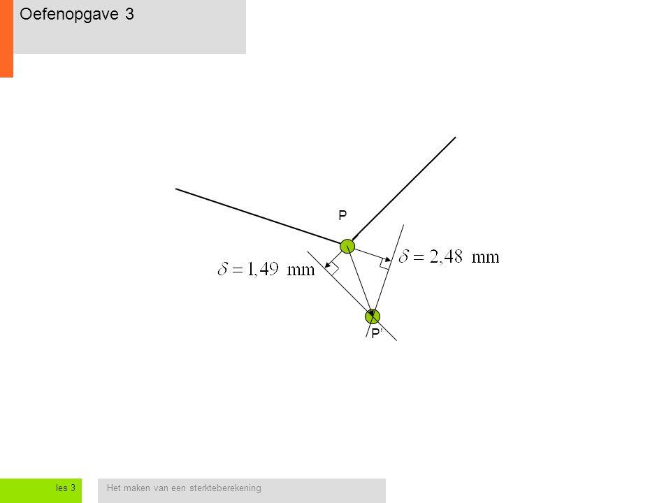 Het maken van een sterkteberekeningles 3 P P' Oefenopgave 3