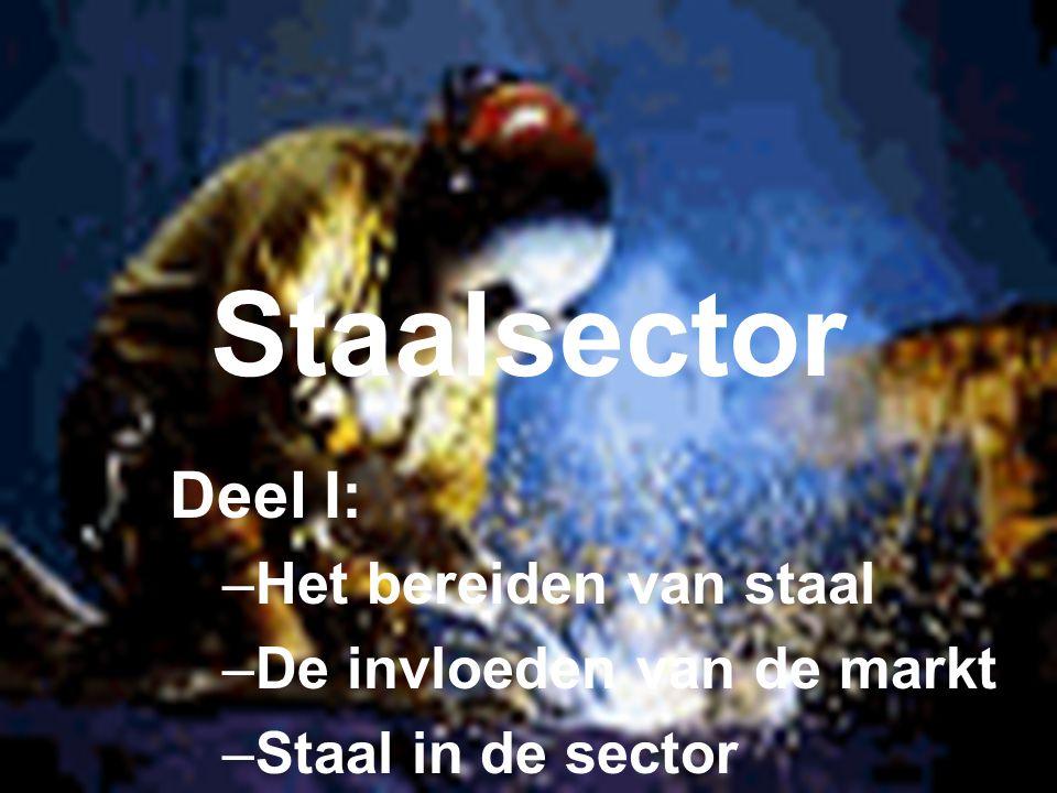 Staalsector Deel I: –Het bereiden van staal –De invloeden van de markt –Staal in de sector