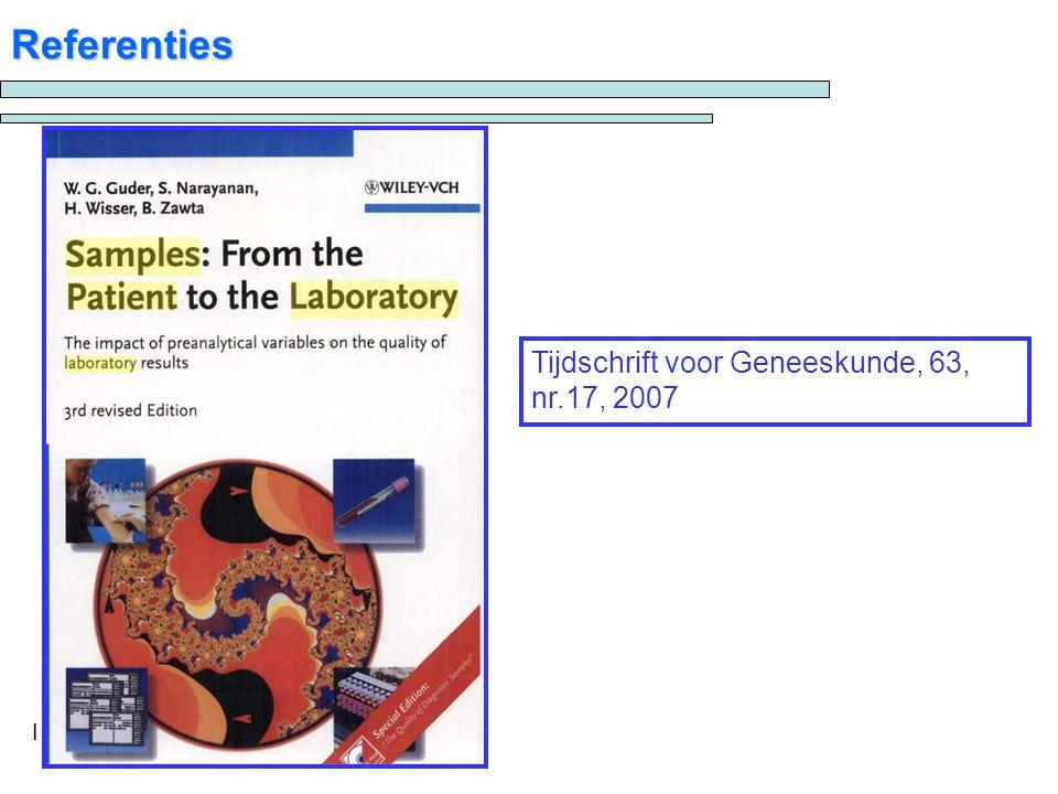 I Referenties Tijdschrift voor Geneeskunde, 63, nr.17, 2007