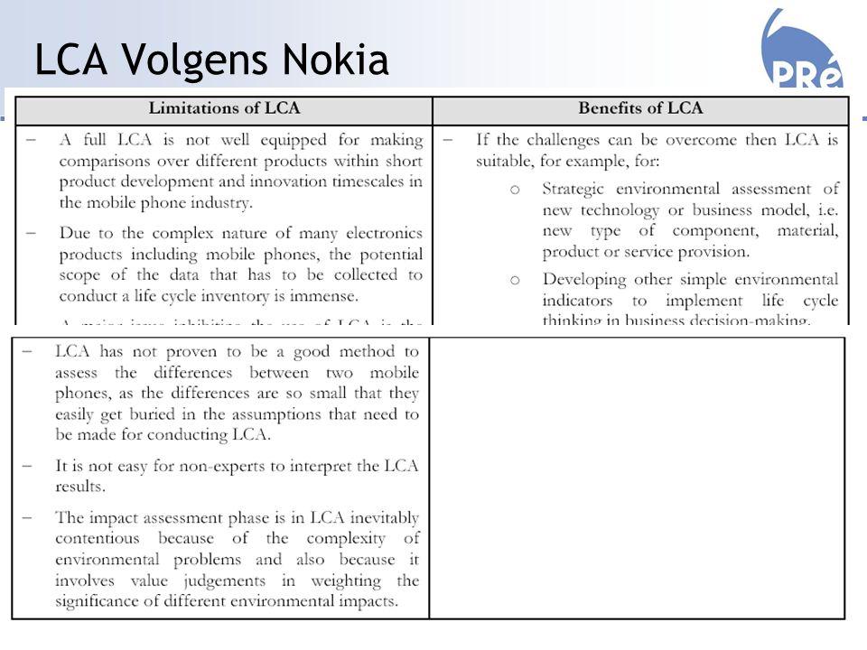 LCA Volgens Nokia