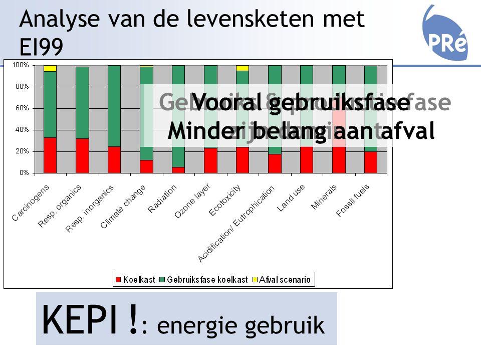 Analyse van de levensketen met EI99 KEPI .