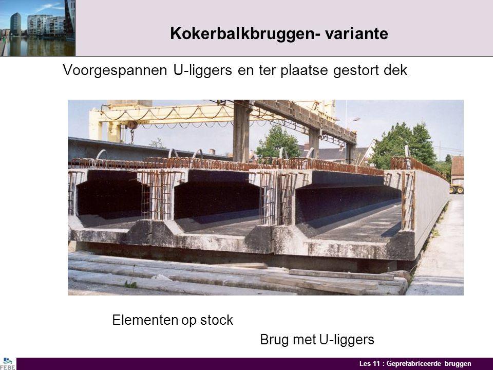 Les 11 : Geprefabriceerde bruggen HST viaduct Lot Productie- en montagefazen Naspannen prefabligger Transport ligger 213 ton Montage liggersAfgewerkte