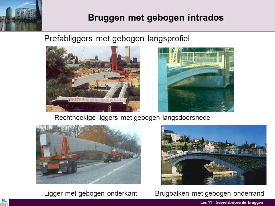 Les 11 : Geprefabriceerde bruggen Mono-kokerbalkbruggen Viaduct HST te Herve Montage kokerbalken Kokerbalken tot 250 ton Doorsnede viaduct Montage dwa
